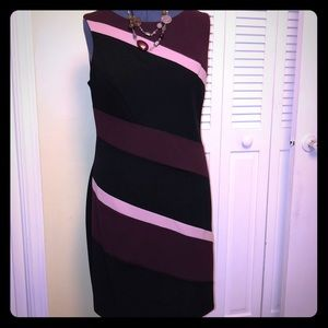 NWOT Black, Burgundy and Pink dress 👗 in size 16